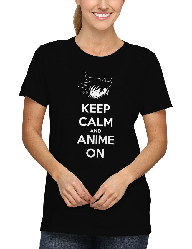 Shirt - Keep Calm And Anime On  - 2