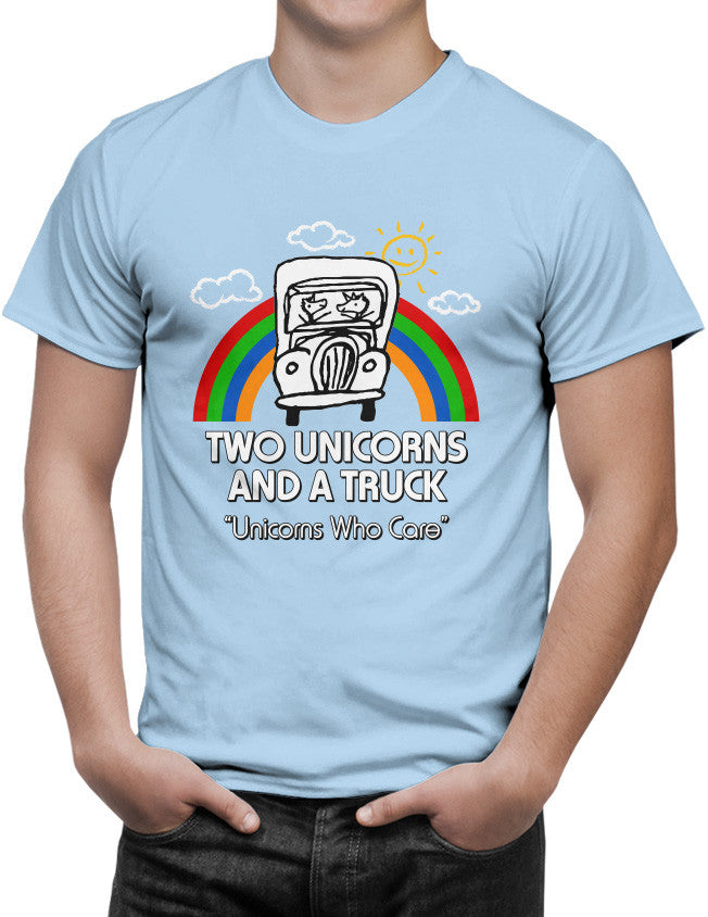 Shirt - Two Unicorns and A Truck  - 3