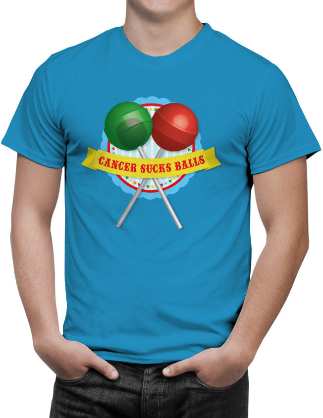Shirt - Cancer Sucks Balls  - 3