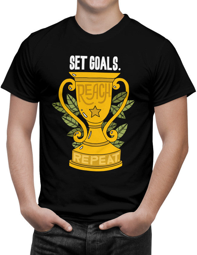 Shirt - Set goals. Reach. Repeat.  - 3