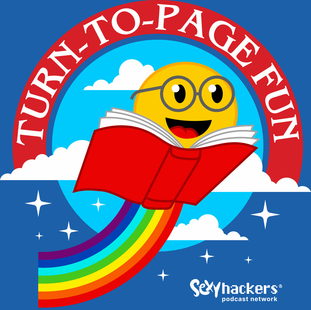 Turn-To-Page Fun Unisex Royal Blue T-shirt