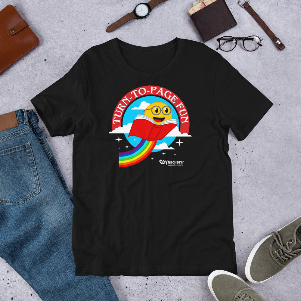 Turn-To-Page Fun Unisex T-shirt