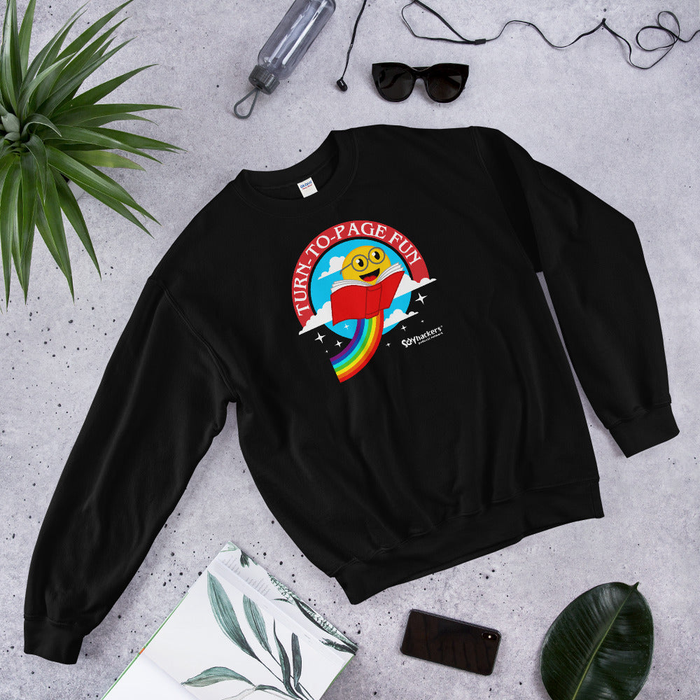 Turn-To-Page Fun Unisex Sweatshirts