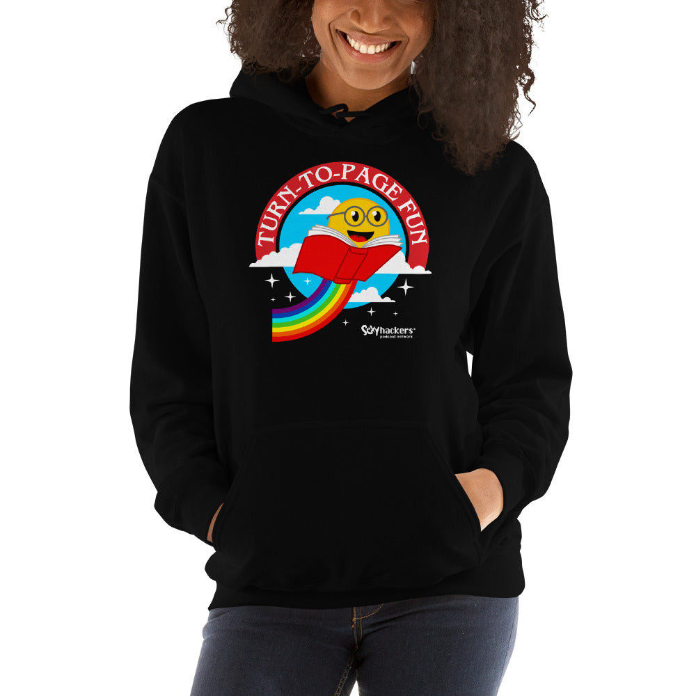 Turn-To-Page Fun Unisex Hoodies