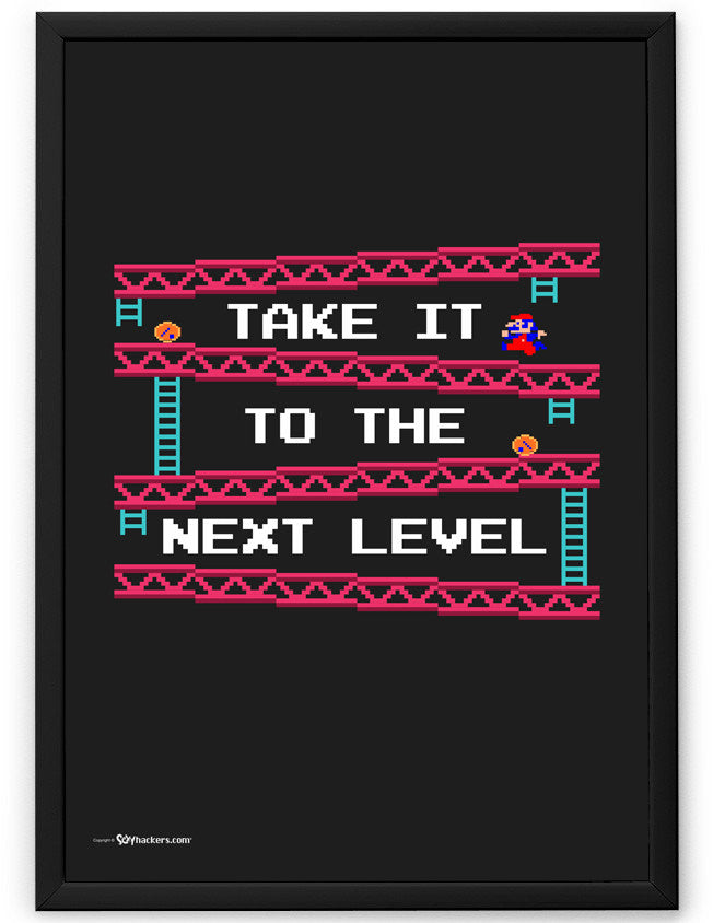 Take It To The Next Level Donkey Kong Poster