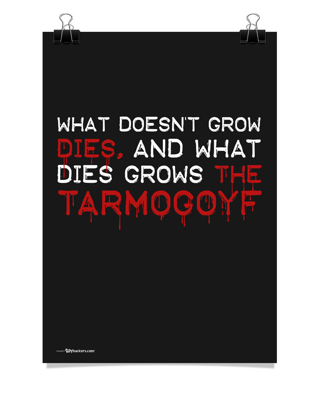 What doesn't grow dies, and what dies grows the Tarmogoyf - Poster