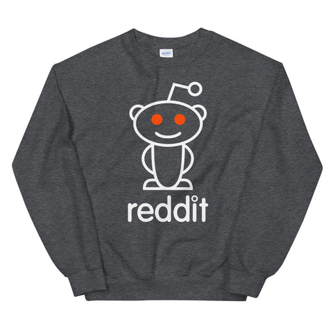 The Ultimate Reading Robot Logo Gray Heather Unisex Sweatshirts