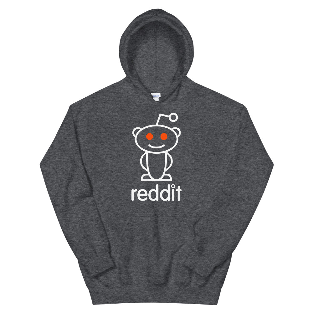 The Ultimate Reading Robot Logo Gray Heather Unisex Hoodies