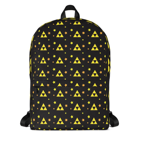 Triforce Patterned Backpack