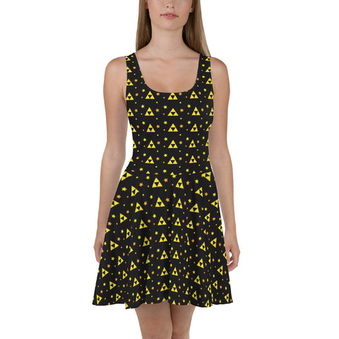 Triforce Patterned Skater Dress