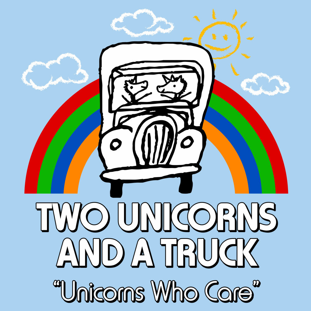 Two Unicorns and a Truck Unisex T-Shirt by Sexy Hackers
