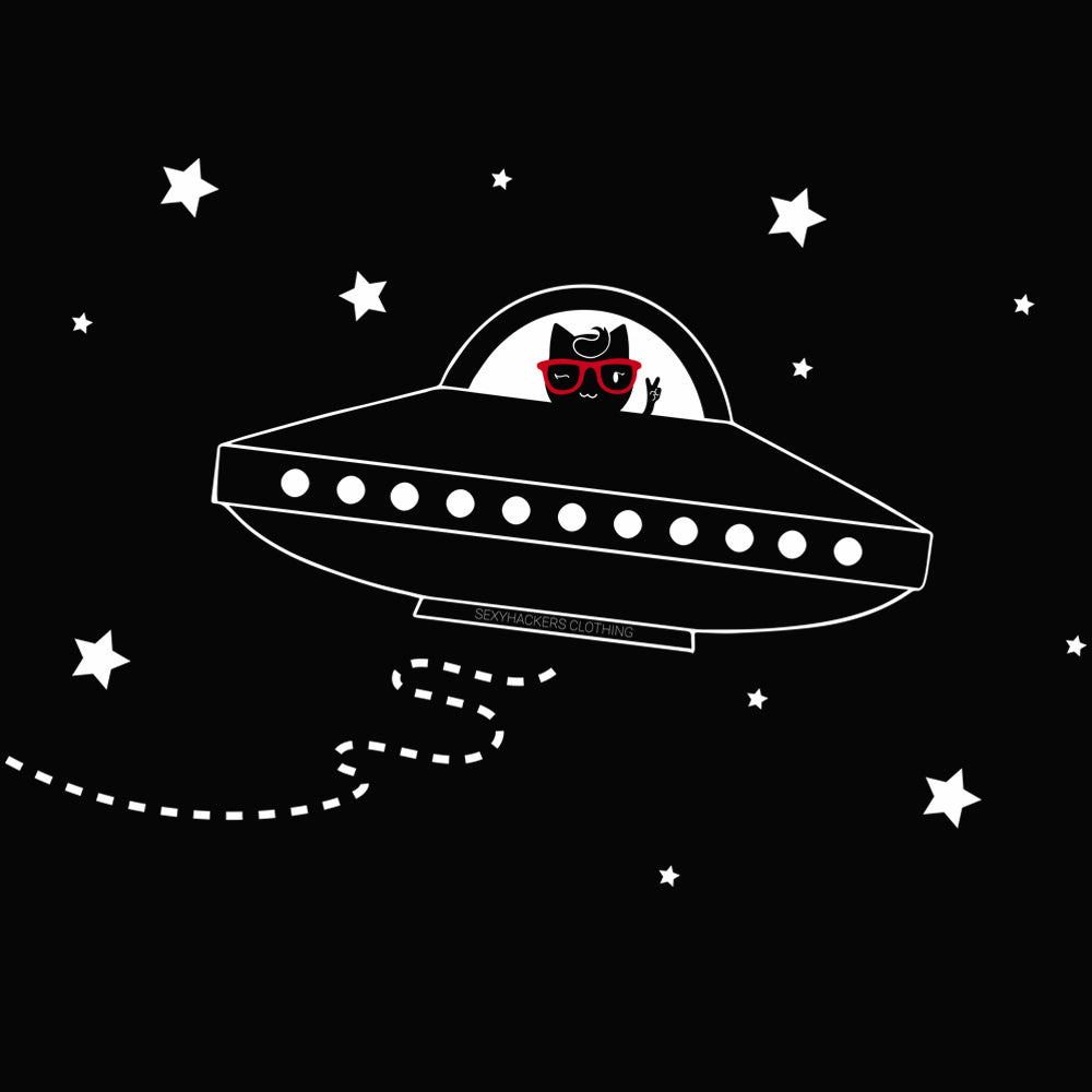 Space Ship Kitty Princess T-shirt
