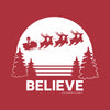 Santa Believe Women's Racer-back Tank-top