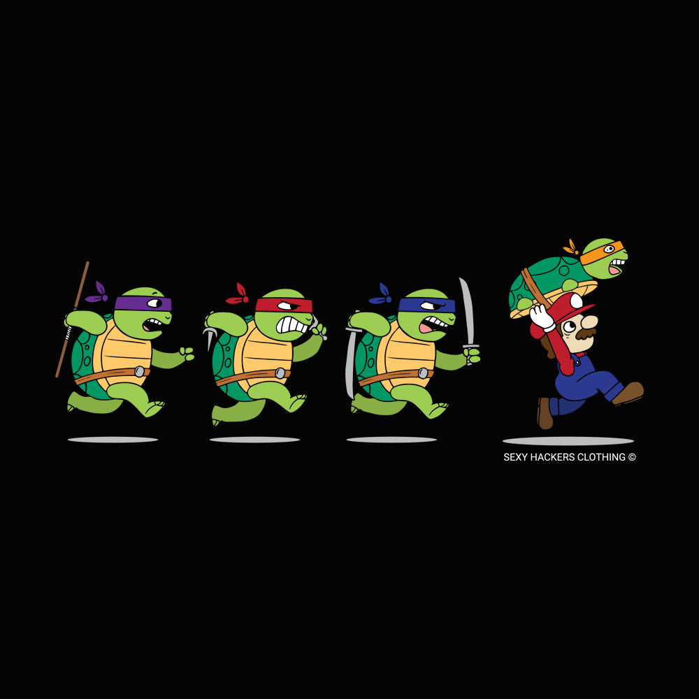 Ninja Turtles and Mario Princess T-shirt