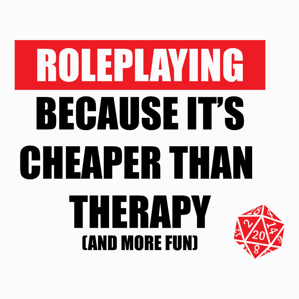 Role Playing vs Therapy Women's Scoopneck T-shirt