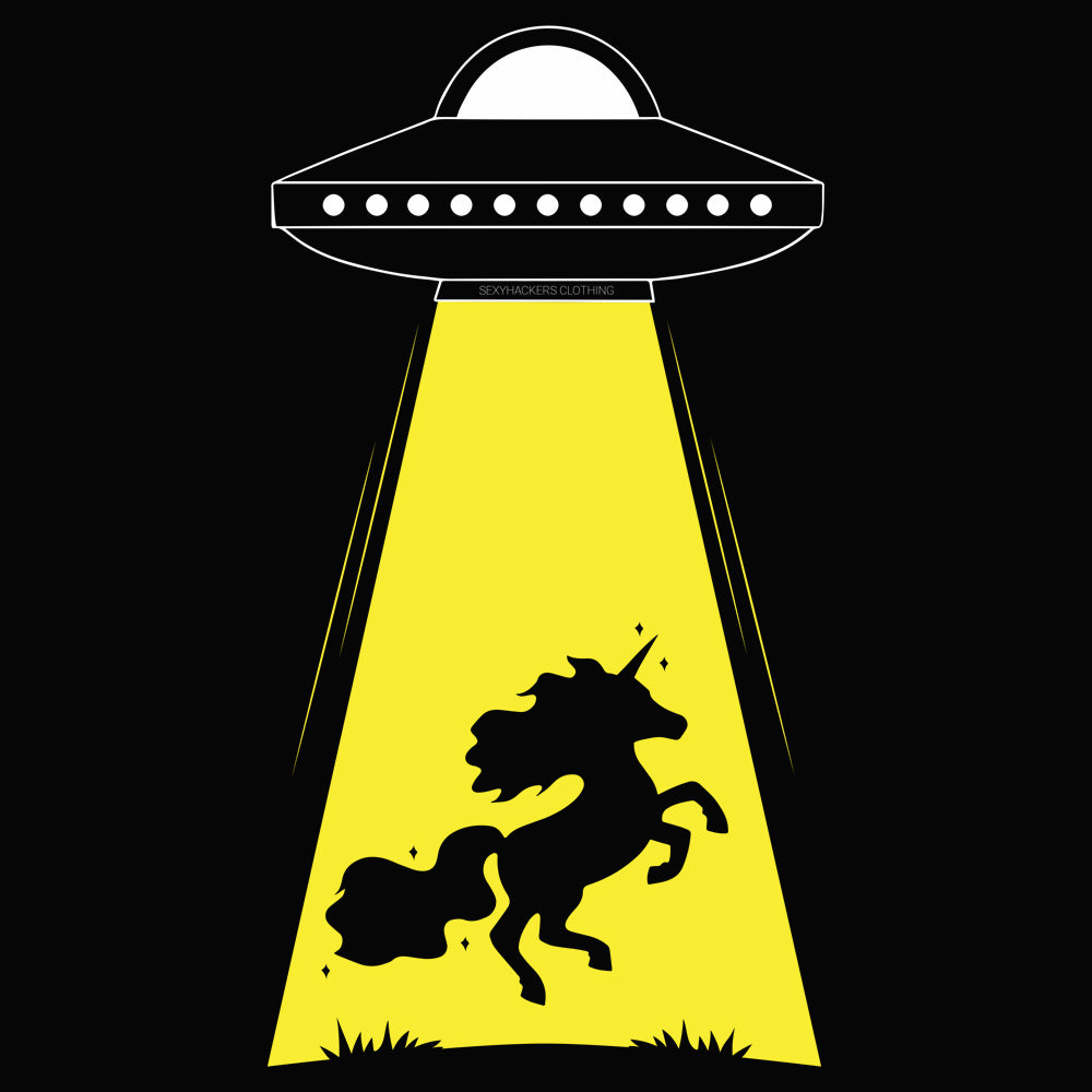 Unicorn Alien Abduction Women's Racer-back Tank-top