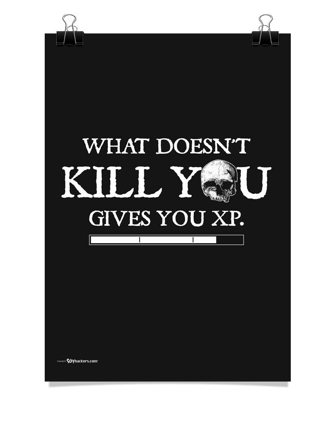 What Doesn't Kill You Gives You XP Poster