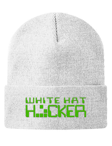 Knit Beanie - White Hat Hacker
