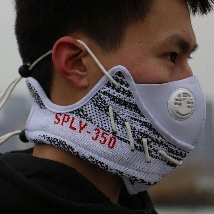 Adidas Boost 350 V2 Zebra - Face Mask