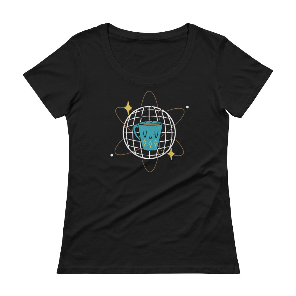 Atomic Coffee Women's Scoopneck T-shirt