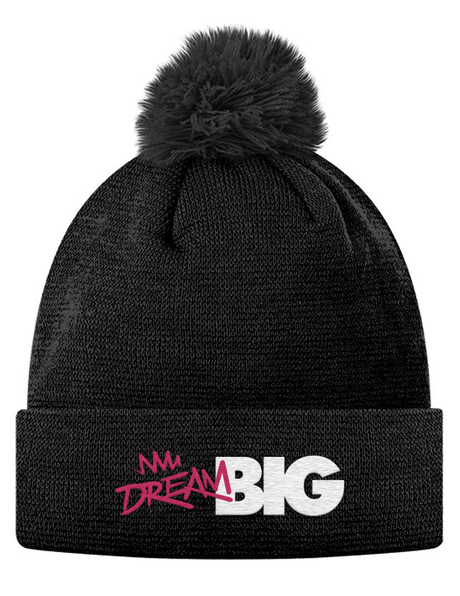 Pom Pom Knit Cap - Dream Big