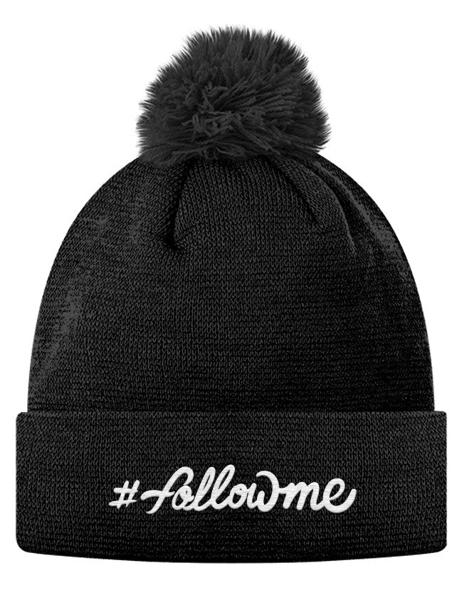 Pom Pom Knit Cap - #followme
