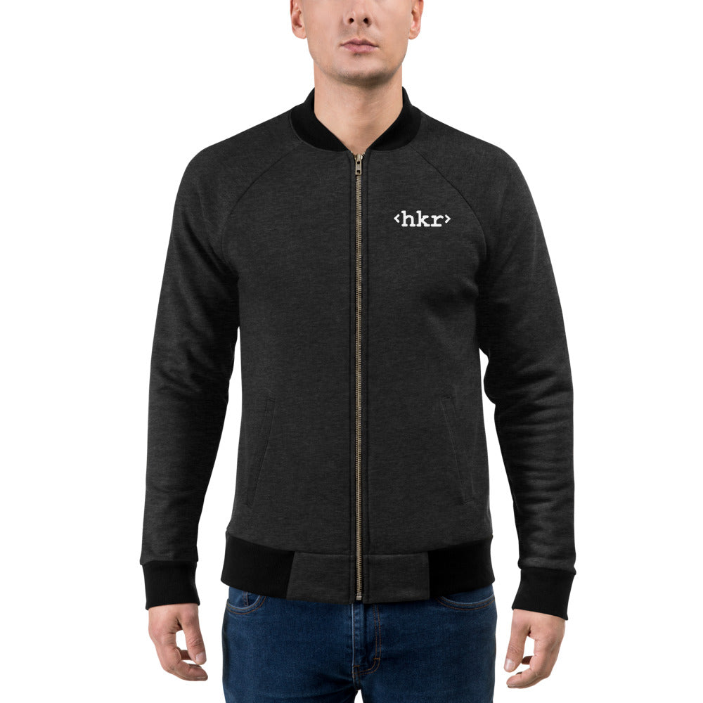 hkr Embroidered Unisex Bomber Jacket