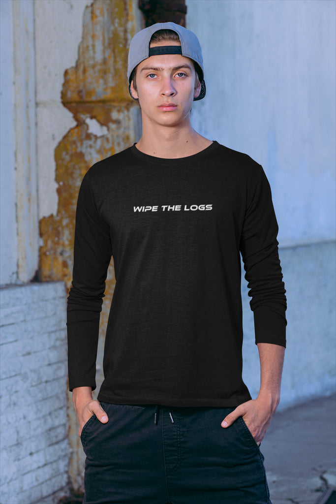 Wipe The Logs Men's Long Sleeve