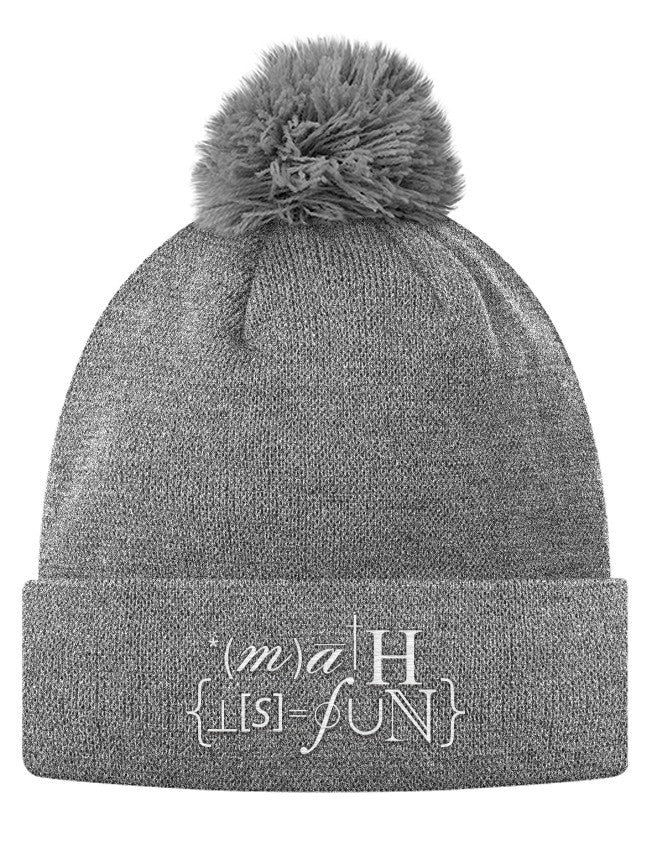Pom Pom Knit Cap - The Ultimate Math Hat  - 2
