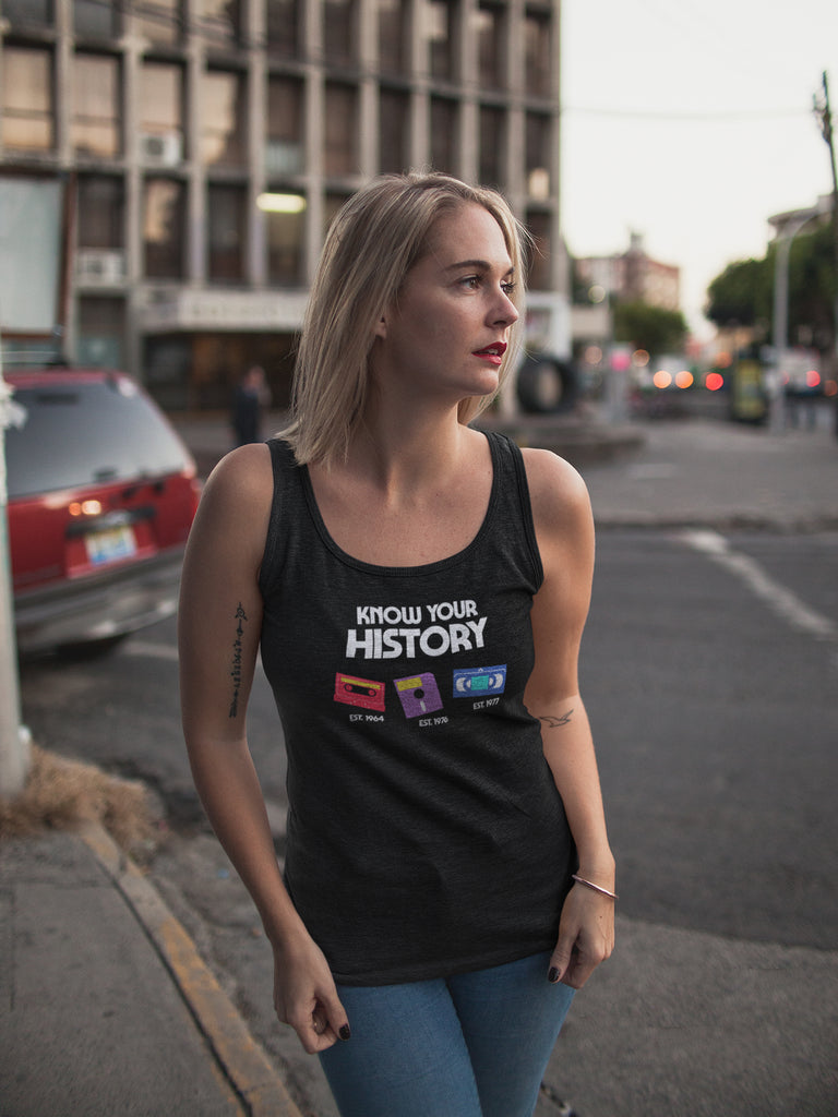 Know Your History Women's Racer-back Tank-top
