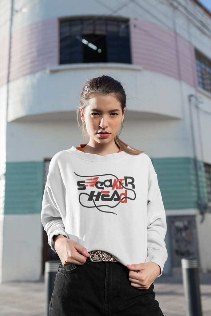 SneakerHead - Standard on White Unisex Sweatshirts