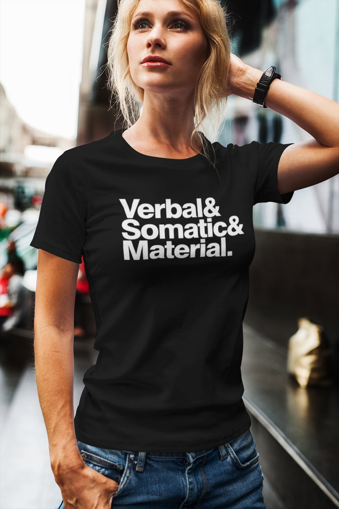 Verbal Somatic Material Women's Scoopneck T-shirt