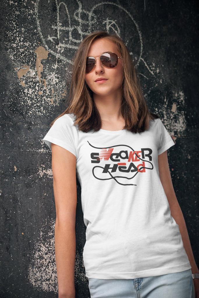 SneakerHead - Standard on White Women's Scoopneck T-shirt