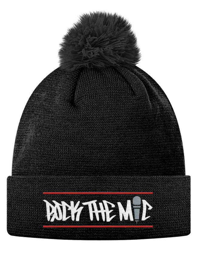 Pom Pom Knit Cap - Rock The Mic