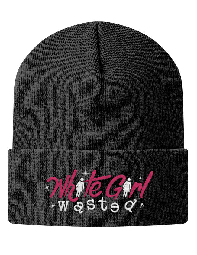 Knit Beanie - White Girl Wasted