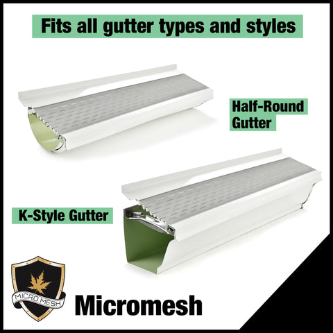 6 inch micromesh gutter types