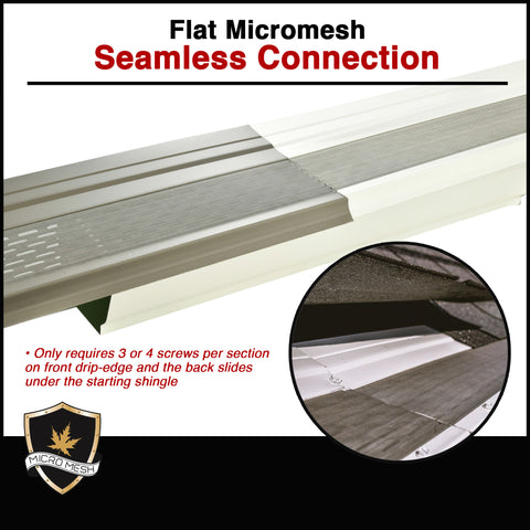 flat micromesh seamless connection