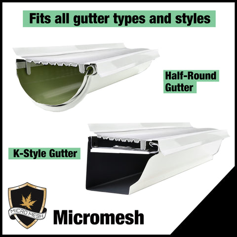 5 inch micromesh gutter types