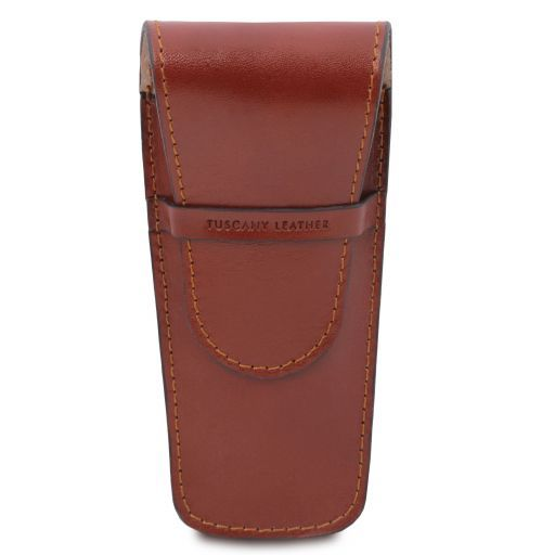 Exclusive leather 2 slots pen/watch holder