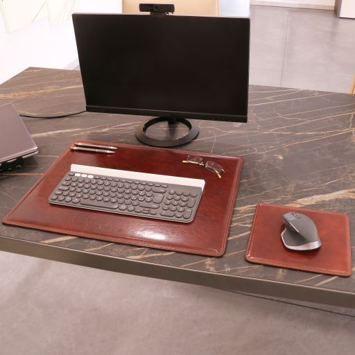Office Set - Leather desk pad and mouse pad