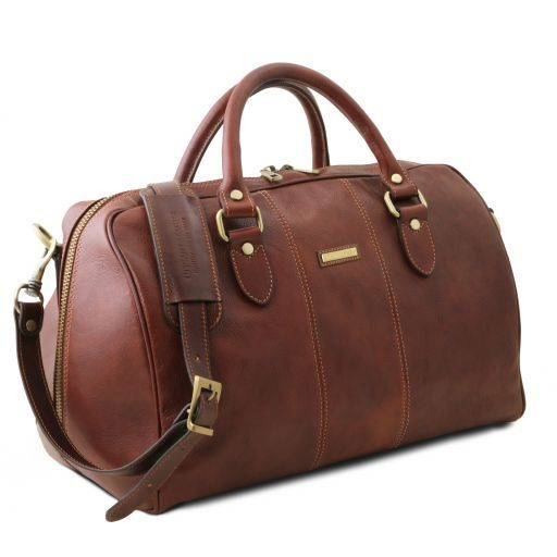 Travel leather duffle bag LISBONA - Small size