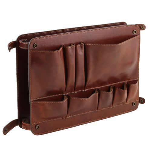 Leather multifunctional module with pockets