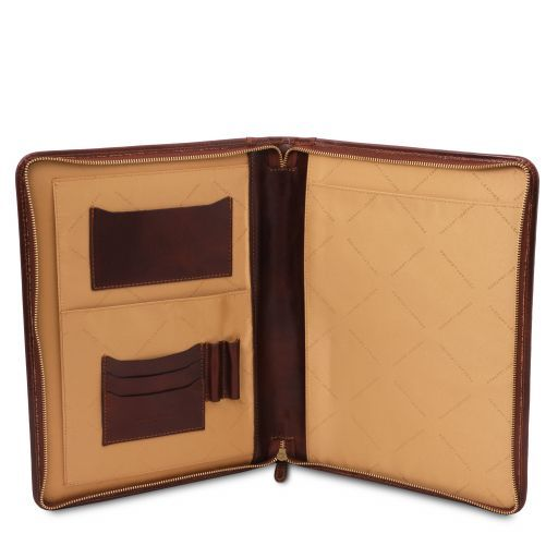 Luigi XIV - Leather document case with zip closure