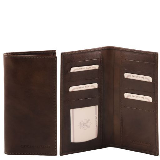 Exclusive leather vertical wallet