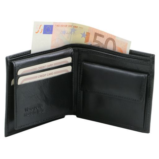 Exclusive 3 fold leather wallet for men with coin pocket