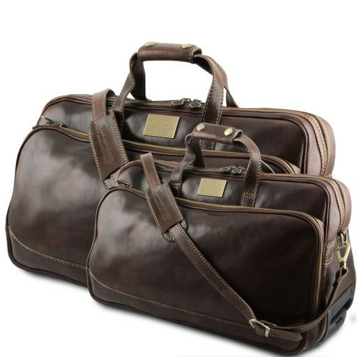 Leather Trolley travel set Bora Bora
