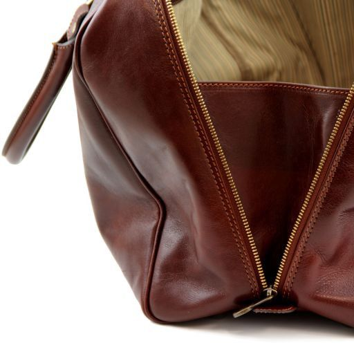 Travel Leather Duffle Bag