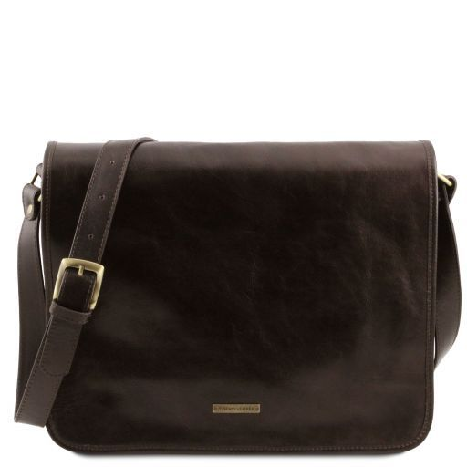 Messenger Leather shoulder bag - Large size
