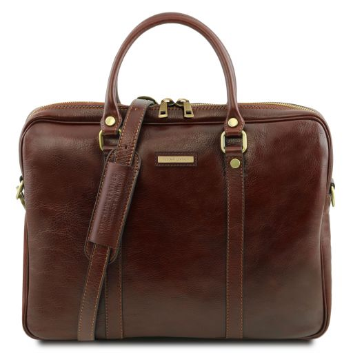 Exclusive leather laptop case PRATO