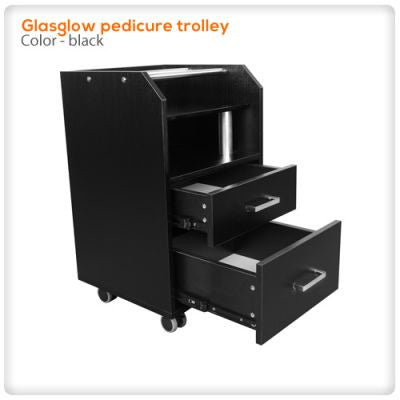Glassglow pedicure trolley